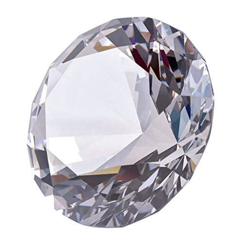 Longwin 80Mm(3.1 Inch) Crystal Diamond Paperweight Jewels Wedding