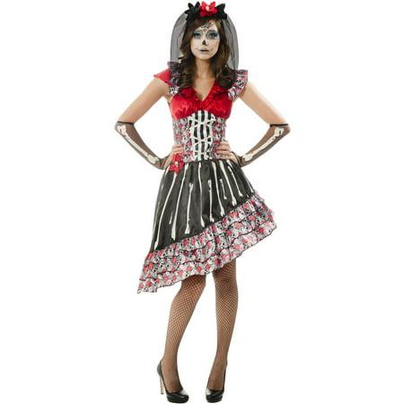 Dia De Los Muertos Adult Halloween Costume - Disfraz De Halloween