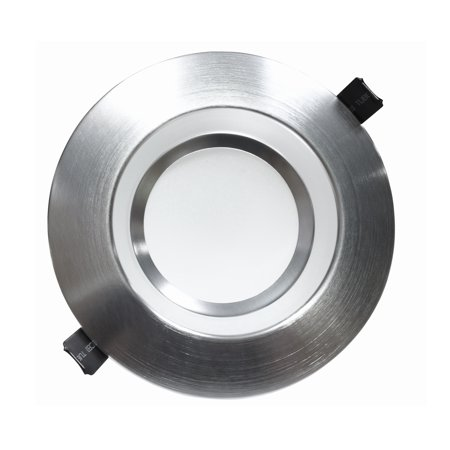 NICOR Lighting Dimmable 4000K LED Recessed Downlight, Nickel (CLR6-10-UNV-40K-NK)