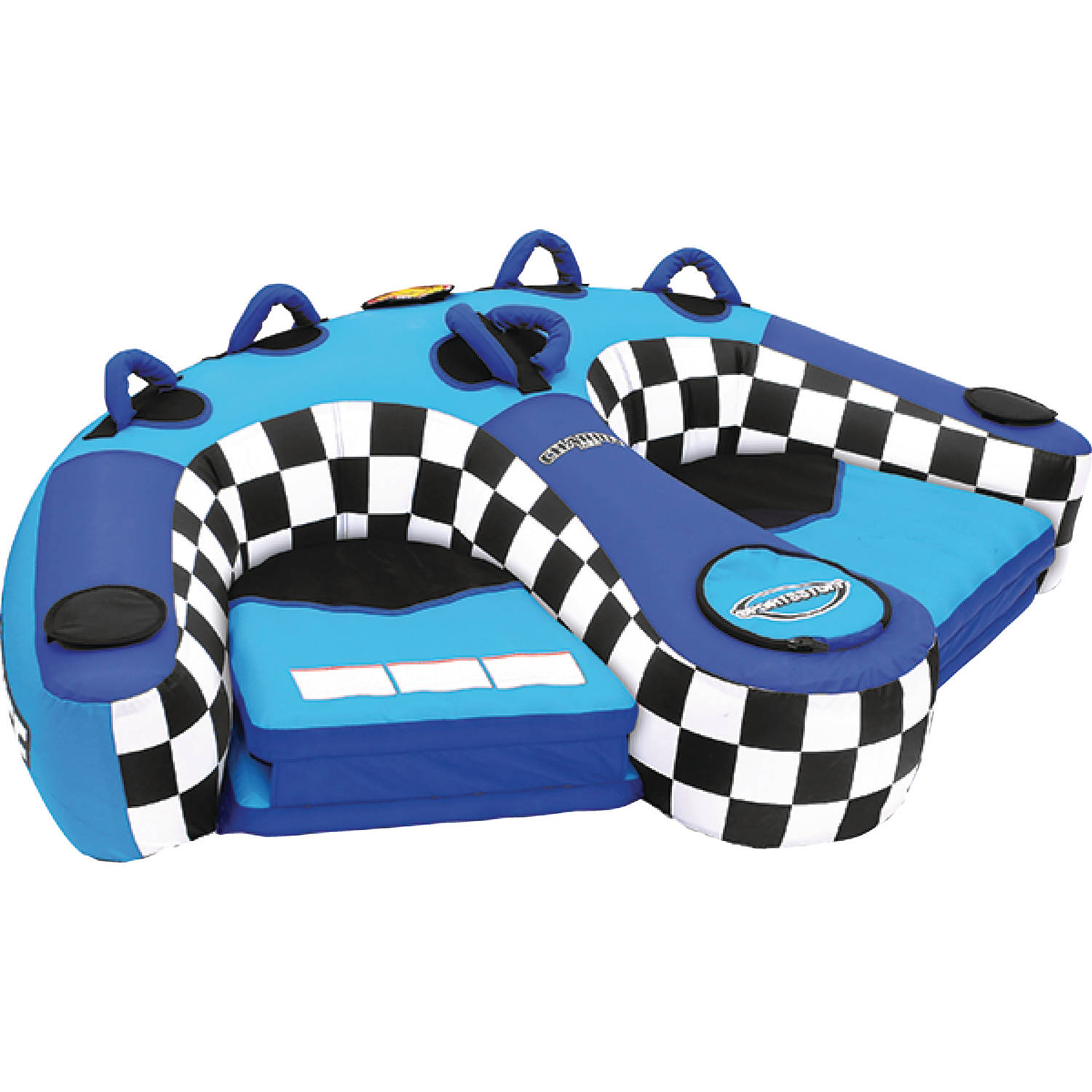 Sportsstuff 53-1982 Chariot Duo Inflatable Towable and Lounger, 2 Rider by Kwik Tek