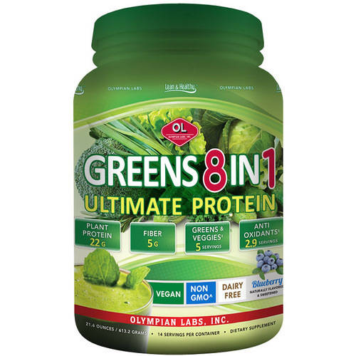 Olympian Labs 8 In 1 Ultimate Greens Protein 18 oz