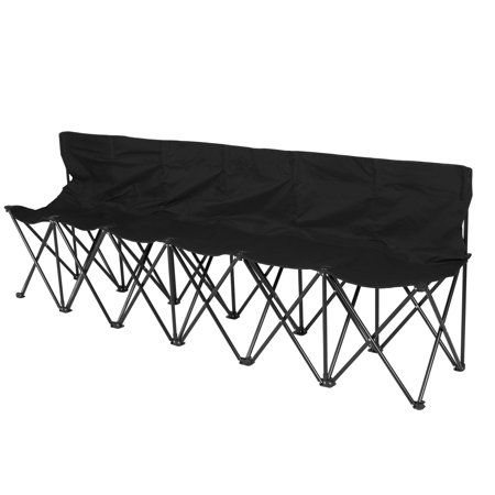 Best Choice Products 6-Seat Portable Folding Bench for Camping, Sports Sideline w/ Steel Tube Frame, Carry Case -