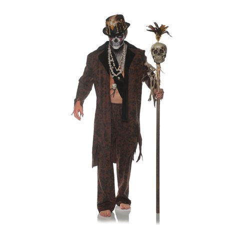 Witch Doctor Mens Adult Voo Doo Magic Spell Caster Costume-Xxl](Peewee Herman Costume)