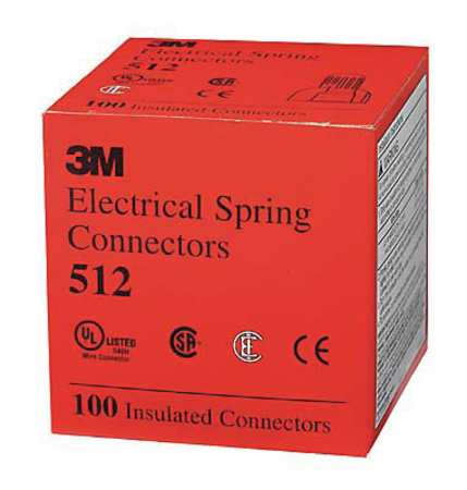 3M 512-KEG Twist On Wire Connector,20-8 AWG,PK25000 G9905585 by 3M