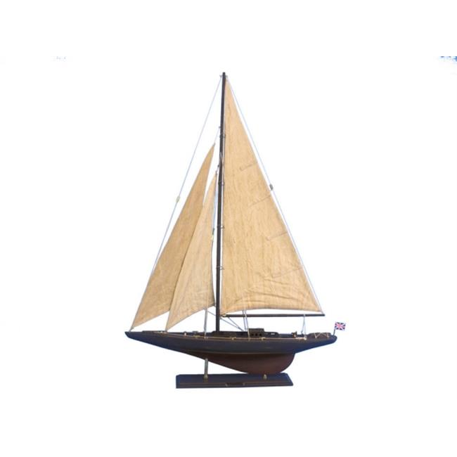 Handcrafted Model Ships END-R-35-RUSTIC Wooden Vintage Endeavour Limited Model Sailboat Decoration 35 in. by Handcrafted Model Ships