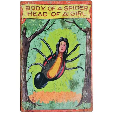 17in. Spider Girl Carnival Sign Halloween - Halloween Carnival Ideas