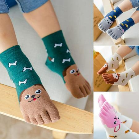 Children Kid Girl Boy 100% Cotton Cute Cartoon Animal Ankle Socks