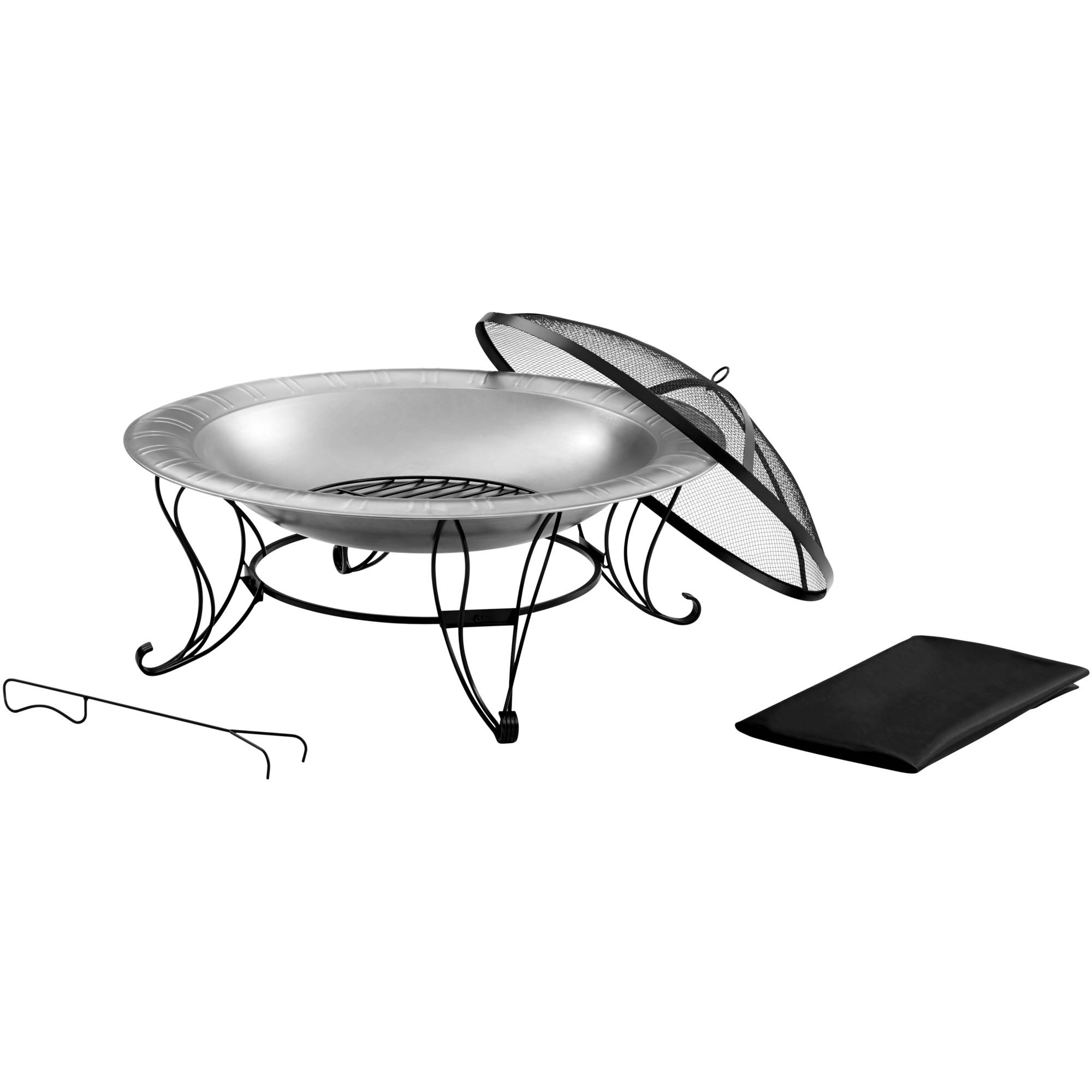 """Better Homes and Gardens Stainless Steel Fire Pit, 35"""""""