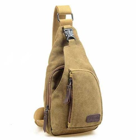 c63e0595e3f0 Unisex Men Women Vintage Crossbody Canvas Military Rucksack Shoulder Hiking  Backpack Travel Multipurpose Messenger Bags Small-Khakhi