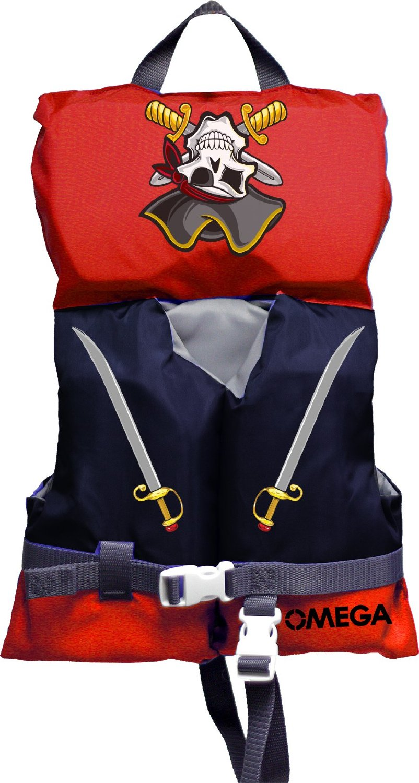 Omega Pirate Life Jacket Vest PFD Type II (Infant) by Omega