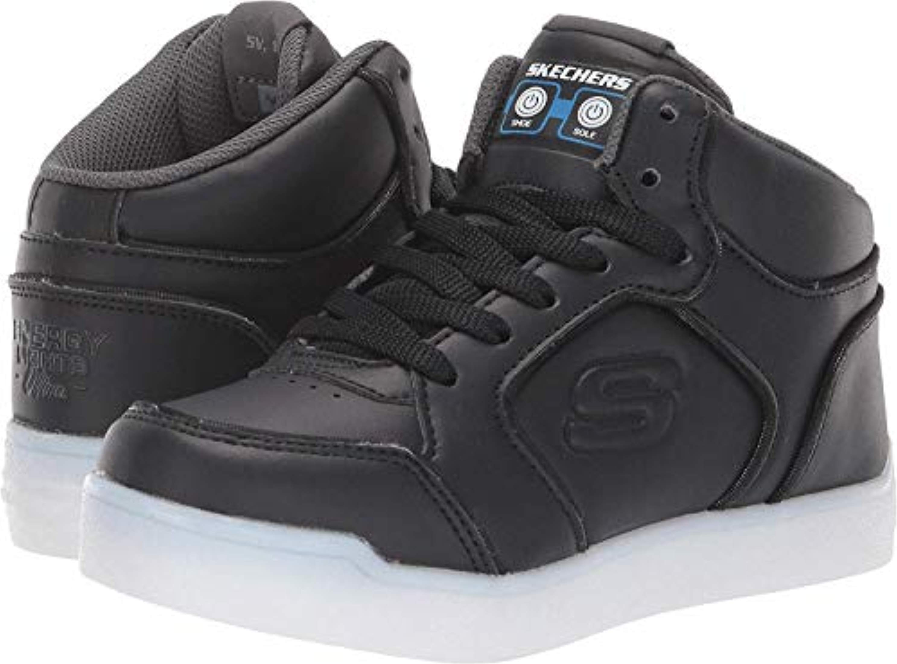 Skechers Skechers S Lights Energy Lights Ultra Kids Light Up Sneakers Black
