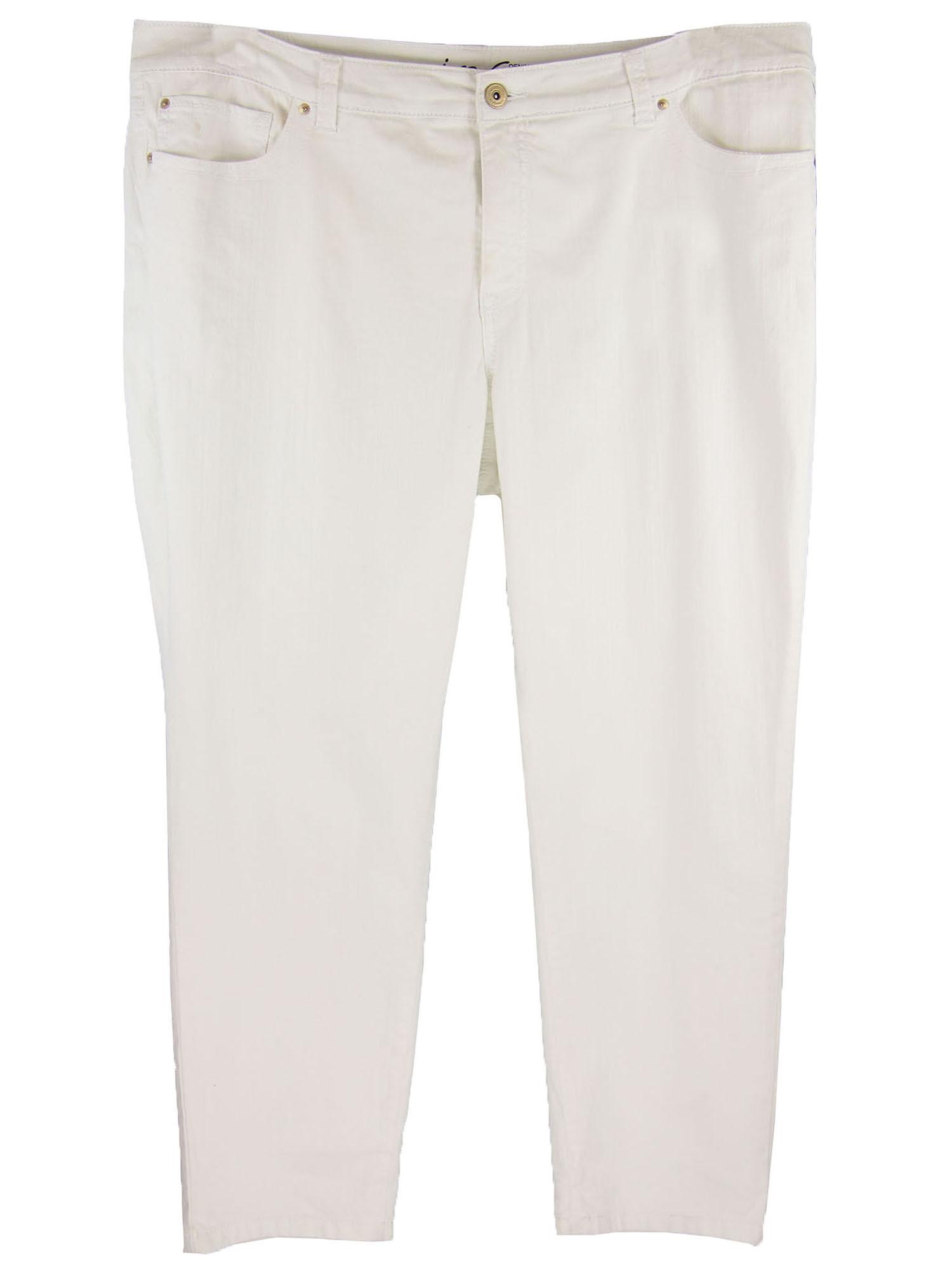 INC Women's Plus Size Slim Tech Fit Skinny Jeans 16w Petite White