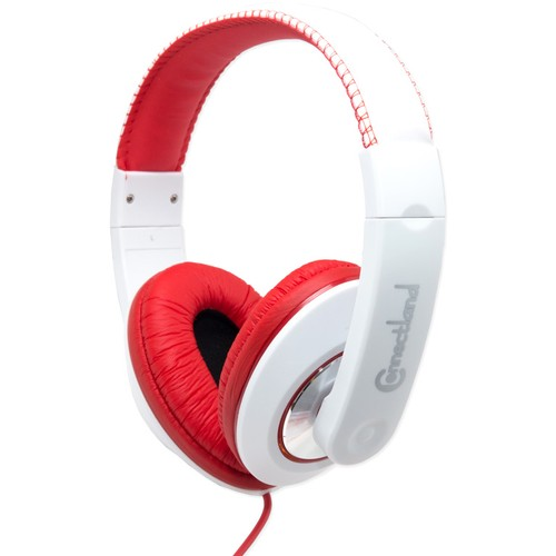 Syba Binaural Design Headset with 40mm Speaker, Red/White