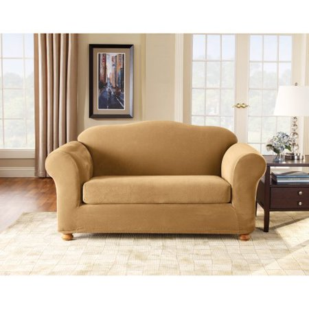 Sure Fit Stretch Pique Two Piece Loveseat Slipcover