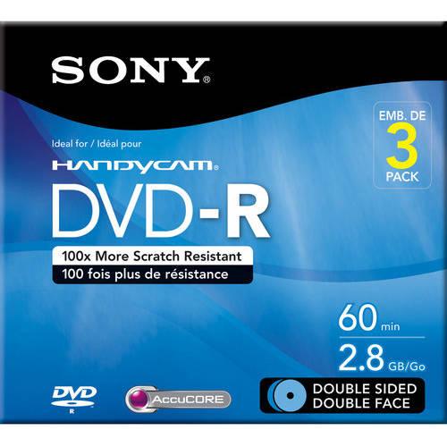 AccuCORE Sony DVD-R/RWs, 3pk
