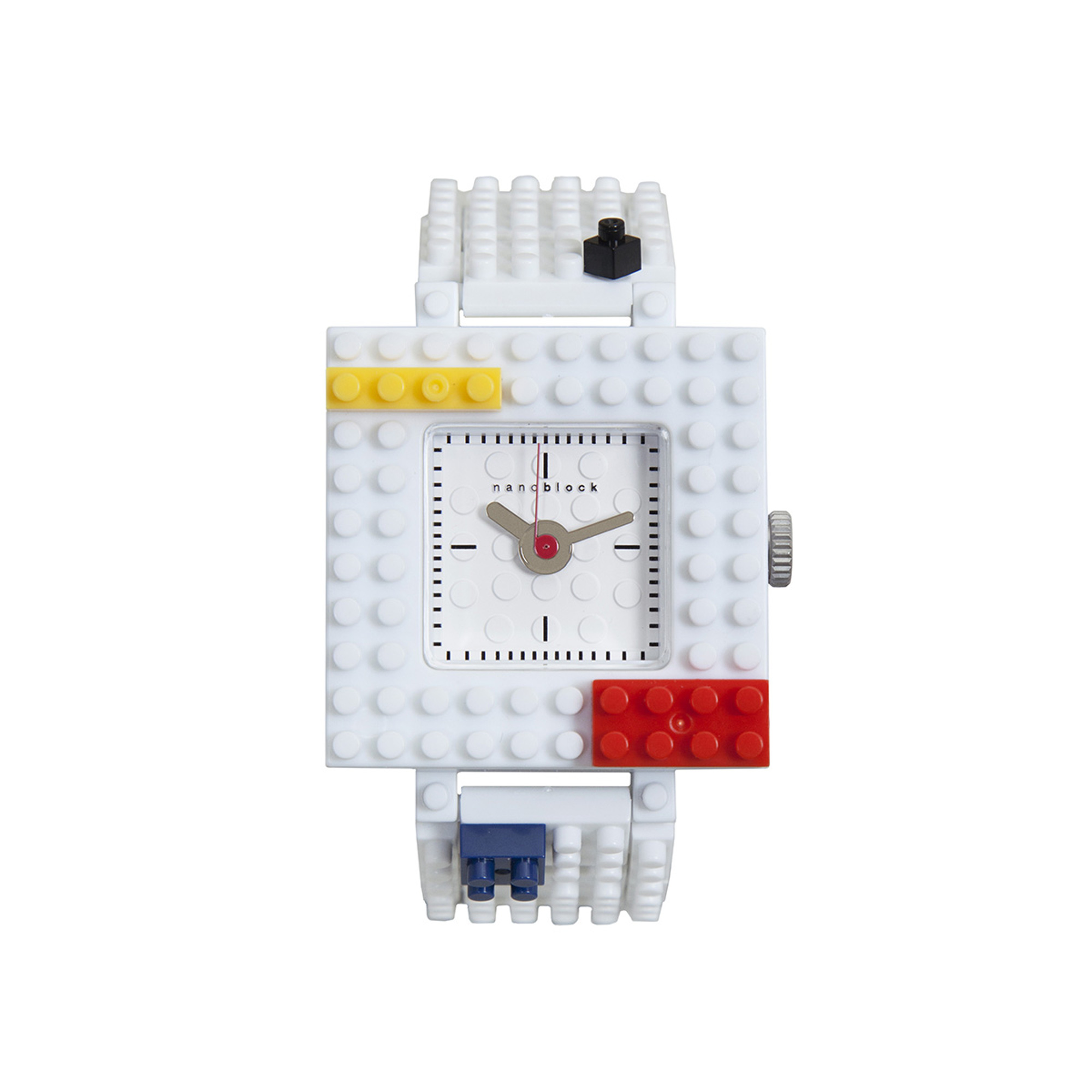 Nanoblocktime Nano Squared Watch, White by Beta Enteprises Inc.