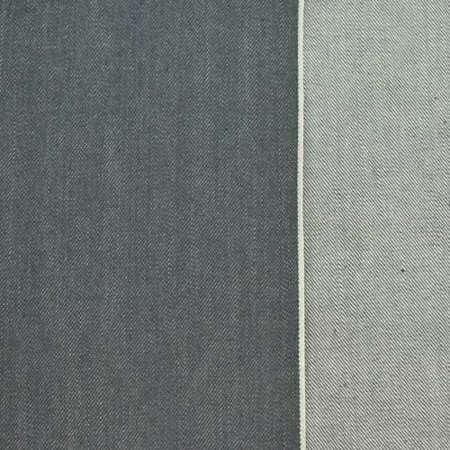 Storm Gray Cotton Japanese Selvedge Denim Fabric By The