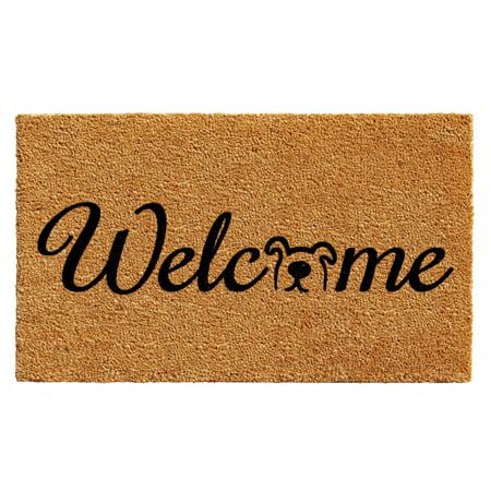 "Calloway Mills Doggie Welcome Outdoor Doormat 17"" x 29"""