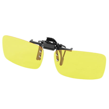 Clear Yellow Lens Plastic Clip On Polarized Sunglasses for Man (Sunglasses For Women Sale)