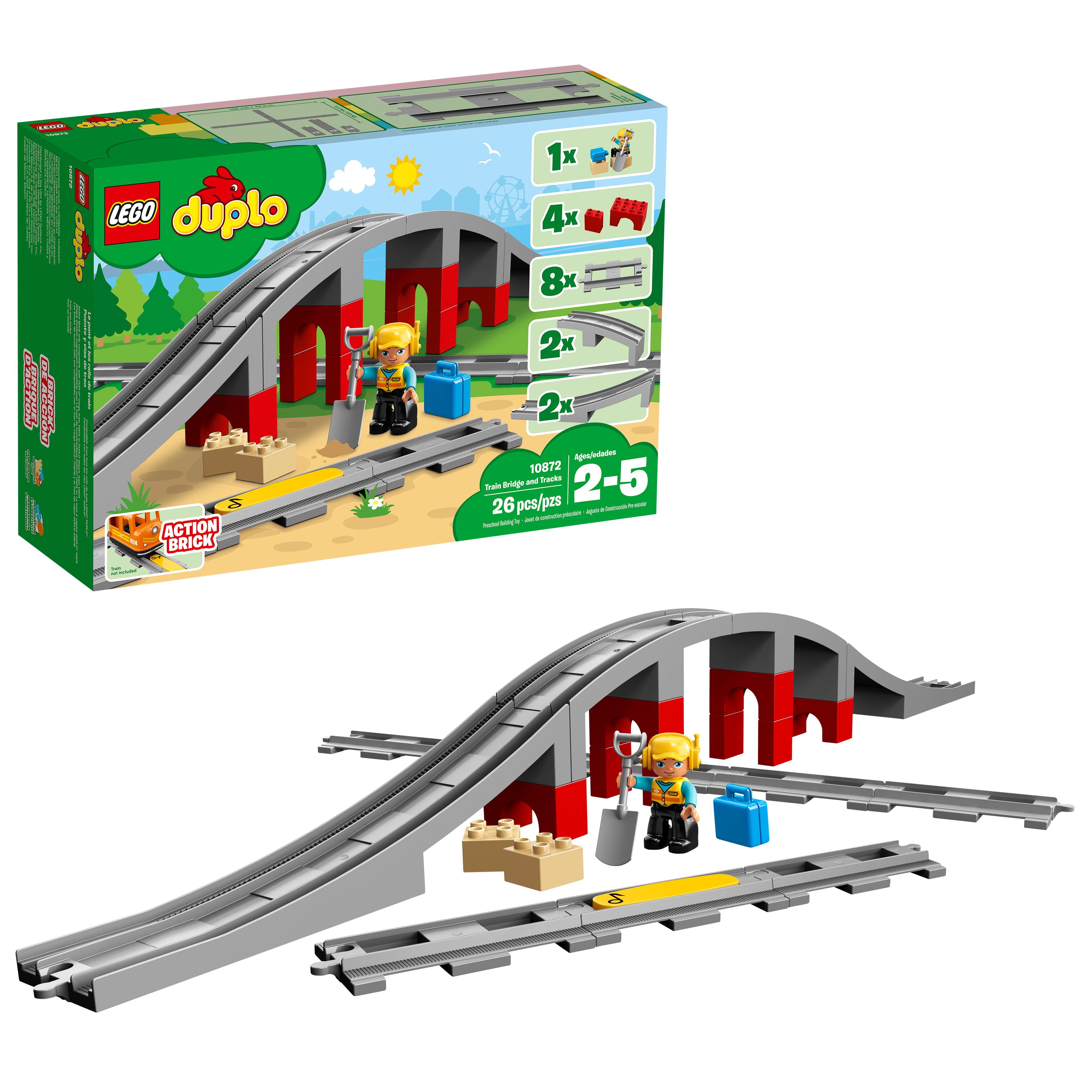 Lego Duplo Town Train Bridge And Tracks Nbsp 10872 Nbsp 26 Pieces Walmart Com Walmart Com
