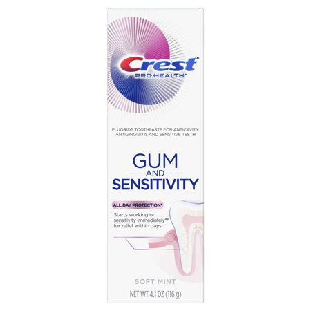 Crest Pro-Health Gum and Sensitivity, Sensitive Toothpaste, All Day Protection, 4.1