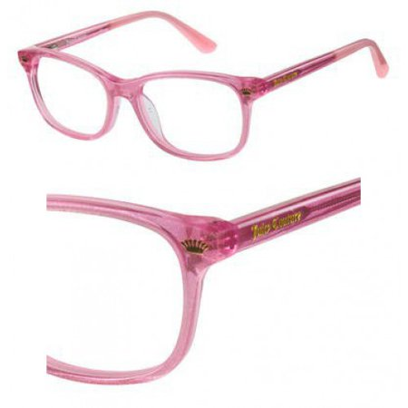 Juicy Couture JC Ju933 Eyeglasses 0W66 Pink Glitter Juicy Couture Brown Eyeglasses