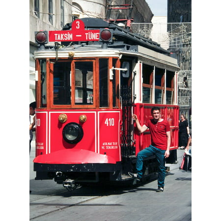 - Peel-n-Stick Poster of City Red Public Tram Urban Trolley Transportation Poster 24x16 Adhesive Sticker Poster Print