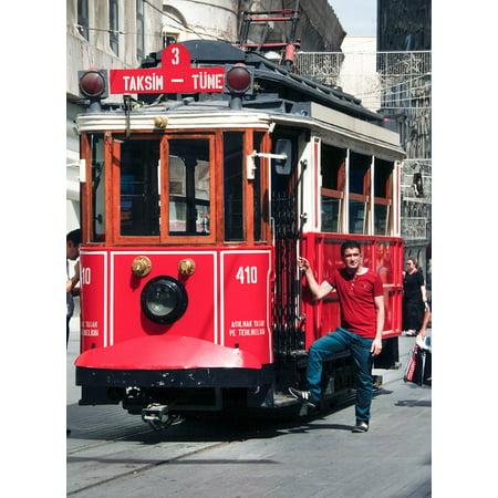 - Canvas Print City Red Public Tram Urban Trolley Transportation Stretched Canvas 10 x 14