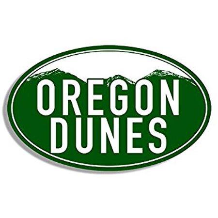 Green Mountain Oval OREGON DUNES Sticker Decal (or rv visit logo) 3 x 5 inch (Dune Sticker)