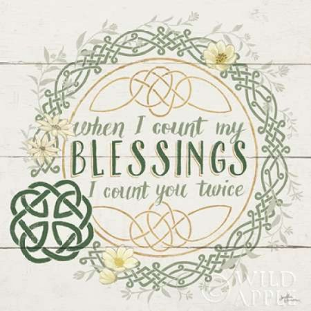 Irish Blessing II Poster Print by Janelle Penner