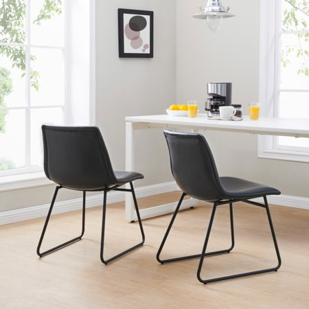 Better Homes & Gardens Theodore Dining Chairs, Set of 2, Black