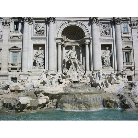 Framed Art For Your Wall Rome Antiquity Trevi Fountain Romans Italy 10x13 Frame