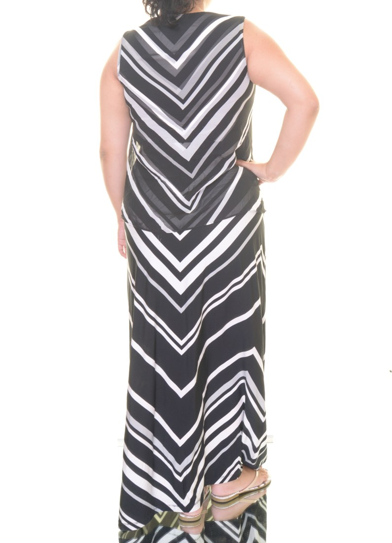 Alfani Womens Chevron Print Maxi Dress
