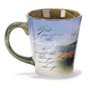 Stoneware 12 oz Mug - Old Boat with Serenity Prayer
