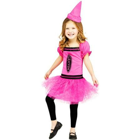 Color Me Cutie Pink Crayon Toddler Costume - Penny Crayon Costume