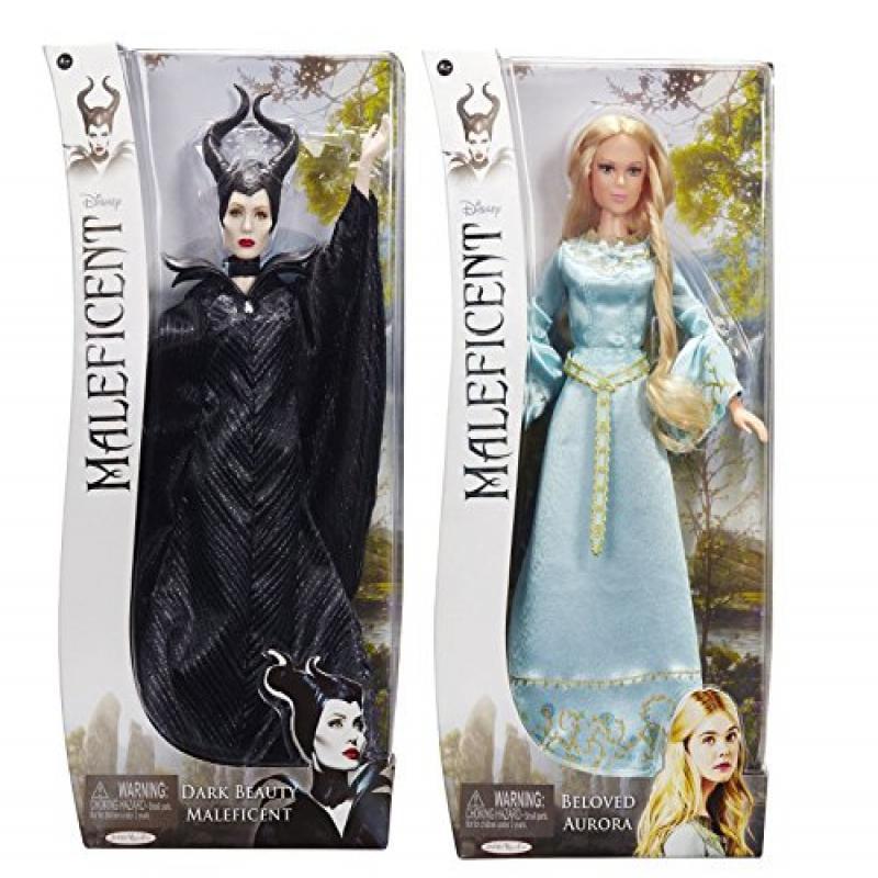 Disney Maleficent Dark Beauty & Aurora the Beloved Dolls ...
