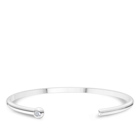 University Of Rhode Island Engraved Sterling Silver White Sapphire Cuff Bracelet - image 3 of 7