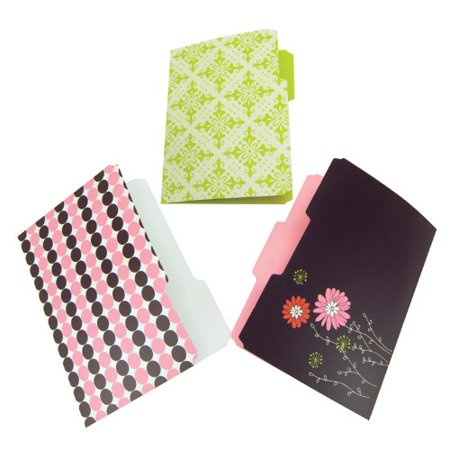 Resource Recycled Decorative File Folders, 6-Folder Pack, Assorted Colors (31505), Perfect for color-coding By Wilson Jones (Wilson Jones File)