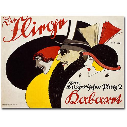 "Trademark Art ""Die Fliege, 1913"" Canvas Wall Art by Hans Rudi Erdt"