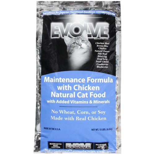 Evolve Natural Maintenance Formula Cat Food with Chicken, 15 lbs