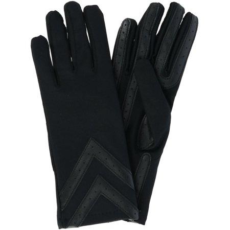 Size Large/Xlarge Women's Fleece Lined Touchscreen Chevron Winter Glove, Black (Buy Black Gloves)
