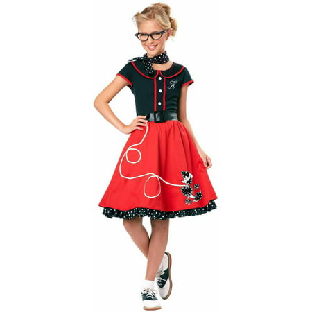 50's Sweetheart Girls' Child Halloween Costume](50's Diner Waitress Halloween Costume)