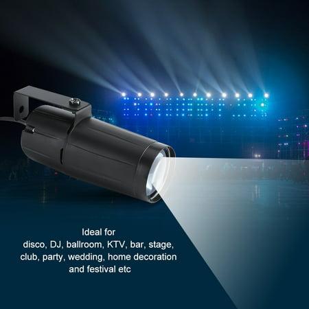 HURRISE 3W LED Beam Spotlight Stage Disco Pub Party Light Effect Pinspot Lights US 110V