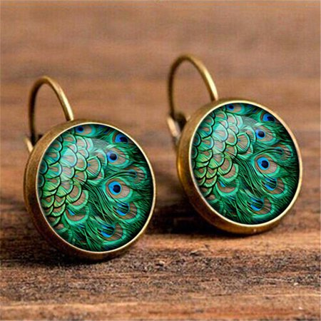AIHOME Paired Exquisite and Retro Time Jewel Earrings Fashion Multiple Patterns Earrings - image 2 de 6