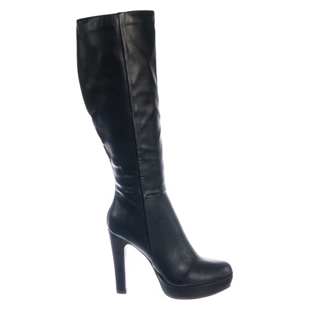 Rhythm by Delicious, Knee High Dress Boots w Thick High Heel Platform