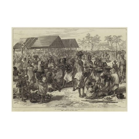 The Ashantee War, General Market, Cape Coast Castle Print Wall Art By Arthur Hopkins