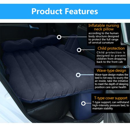 Car Bed Back Seat Inflatable Air Mattress for Camping Travel - image 5 de 8