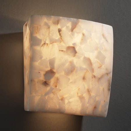Justice Design Group ALR-5120 Wall Sconce from the Alabaster Rocks! Collection, Alabaster