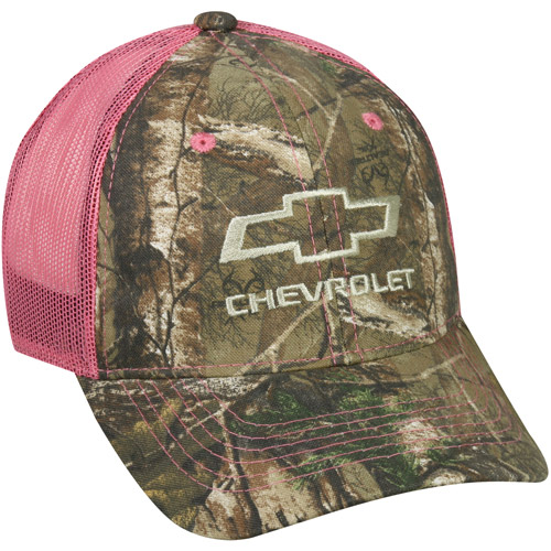 Women's Chevrolet Mesh Back Cap, Realtree Xtra Camo, Adjustable Closure