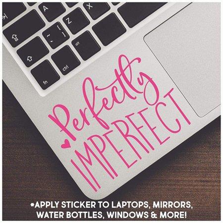 Perfectly Imperfect Motivational Vinyl Lettering Wall
